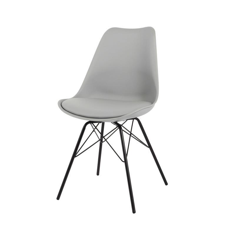 Chaise en polypropylène et métal grise Coventry
