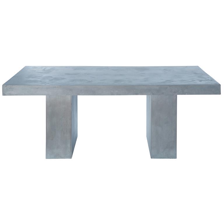 Table de jardin en magnésie effet béton 8/10 personnes L200 Mineral