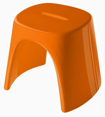Tabouret empilable am lie laqu plastique slide laqu orange - Tabouret plastique empilable ...