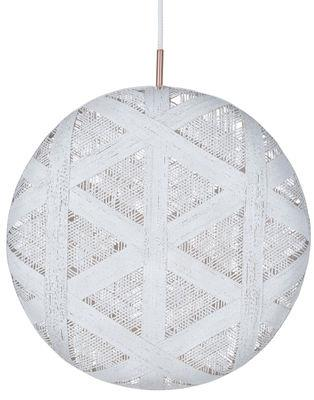 Suspension Chanpen Hexagon / Ø 52 cm - Forestier blanc en tissu