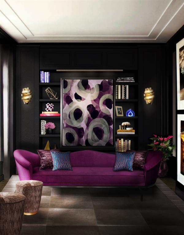 Image Réalisation 3D pour un salon entièrement décoré By KOKET