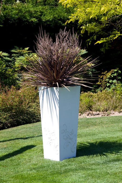 Image Bac au motif floral en béton ultra haute performance Création CJCJ - Bacs Image'In