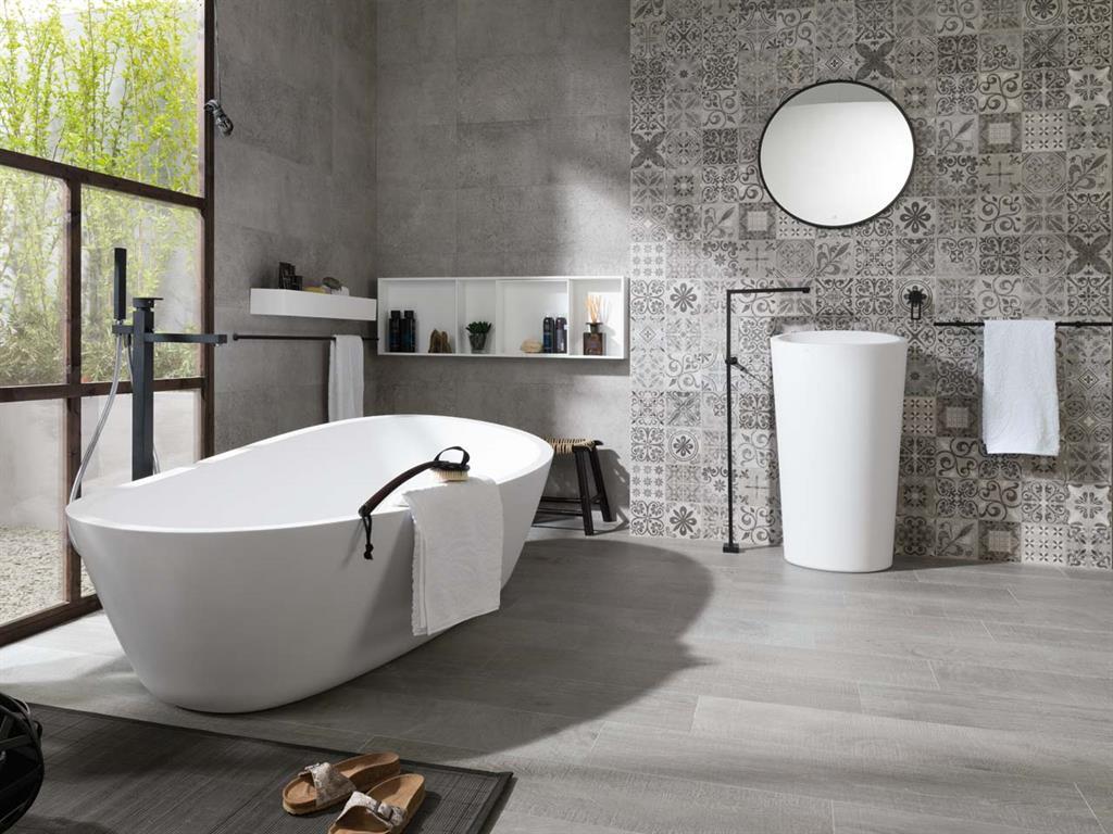 Salle de bain avec éléments en Krion®