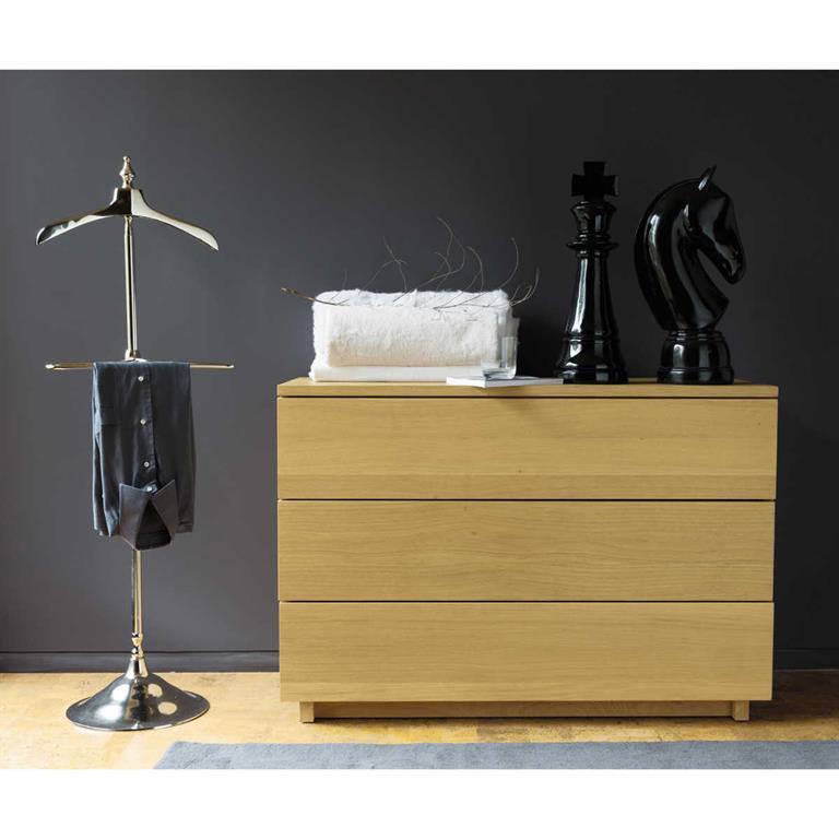 valet de chambre en m tal effet chrom maisons du monde. Black Bedroom Furniture Sets. Home Design Ideas