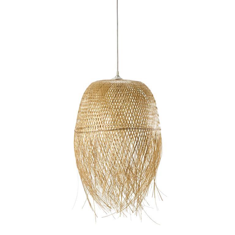 Abat-jour pour suspension en bambou tressé D42