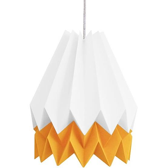 Abat-jour blanc et orange en papier - Orikomi
