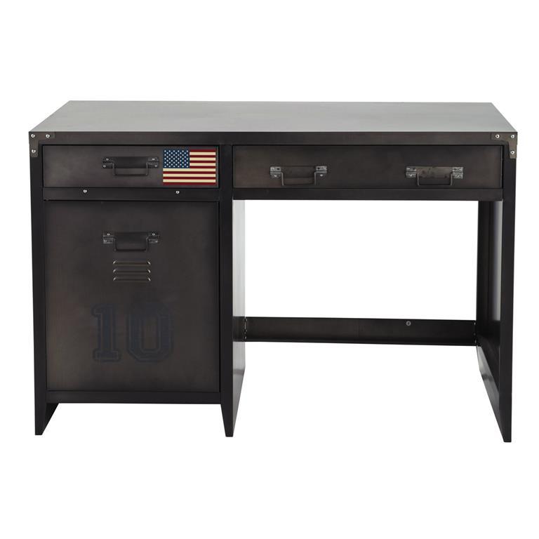 Bureau indus 1 porte 2 tiroirs en métal Andrews