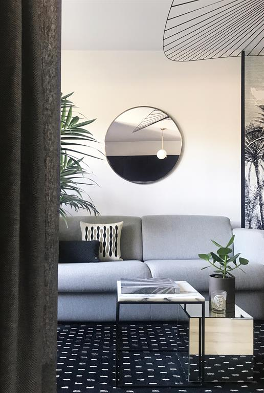 Rénovation d'un Appartement à Lyon - Agencement et Décoration - Salon