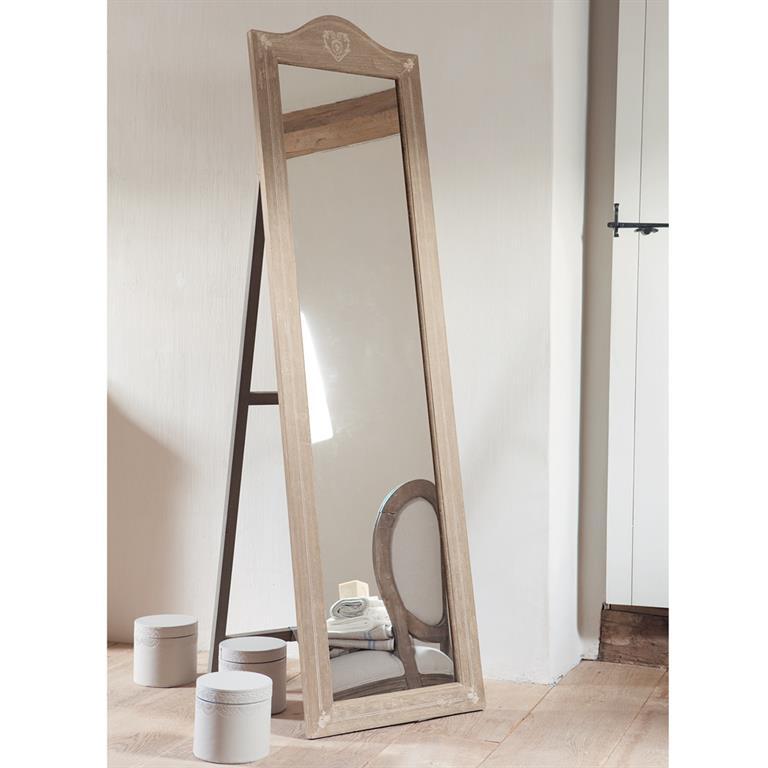 Miroir psych en paulownia h 170 cm camille maisons du monde for Psyche miroir design