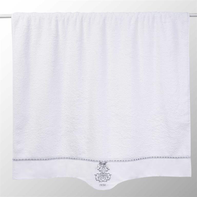Drap de bain en coton blanc 100x150