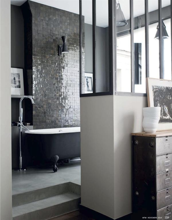 comment se faire une salle de bain r tro moderne. Black Bedroom Furniture Sets. Home Design Ideas