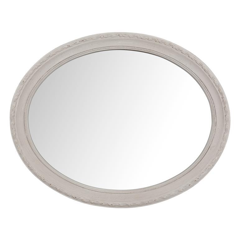 Miroir ovale taupe Lara