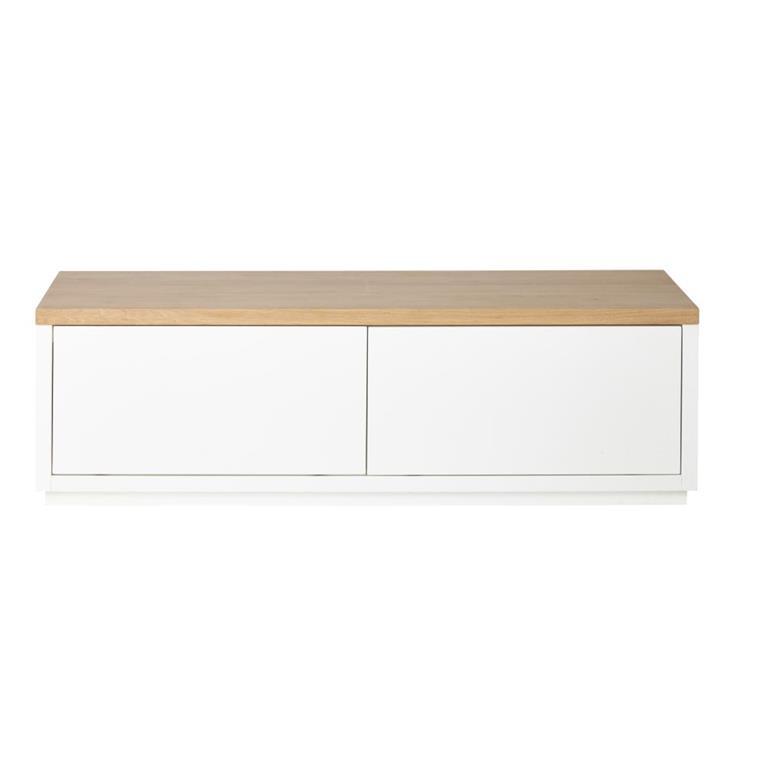 Meuble TV 2 portes blanc L140 Austral