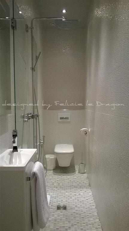 Une salle de bains de 3m cr e dans une chambre f licie - Salle de bain dans une chambre ...