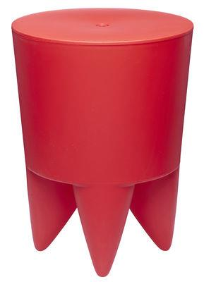 Tabouret New Bubu 1er / Coffre - Plastique - XO rouge