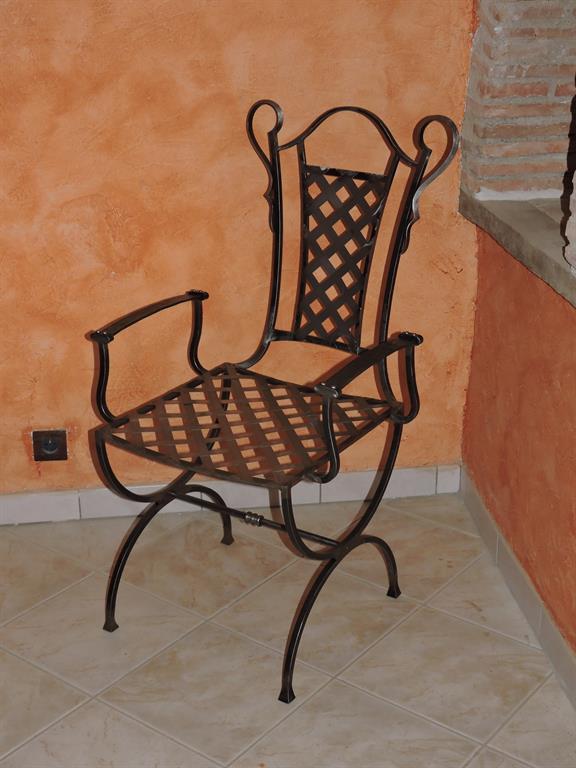 fauteuil classique ferronnerie rocle ref fauteuil classique. Black Bedroom Furniture Sets. Home Design Ideas