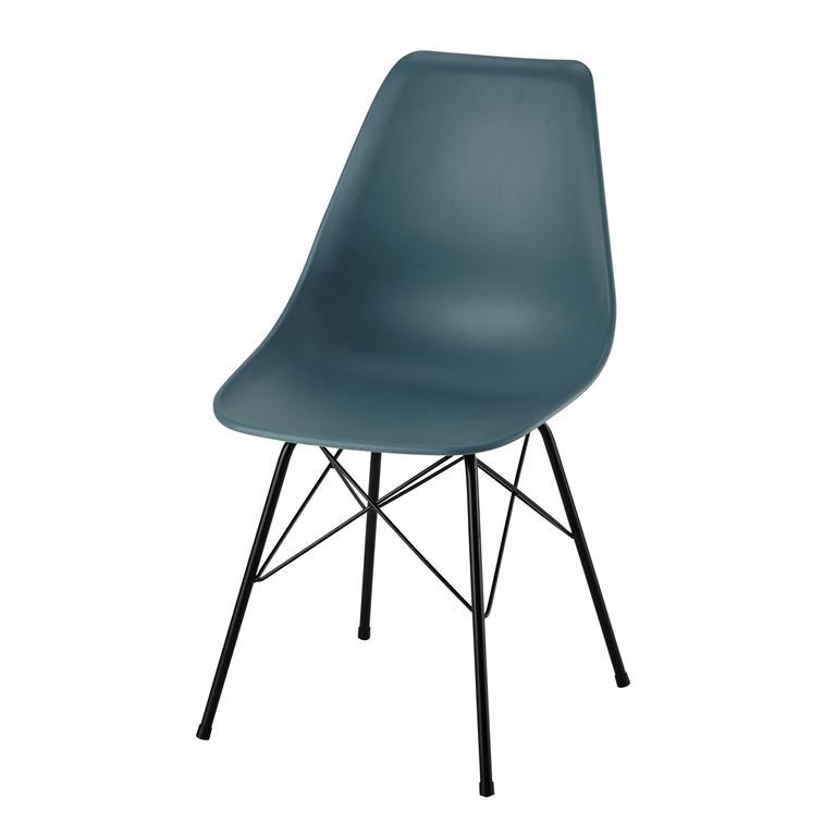 Chaise en polypropylène et métal bleue Cardiff