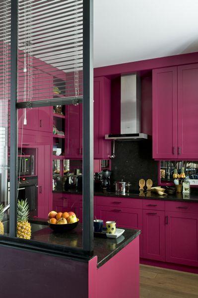 Cuisine color e des id es pour mettre de la couleur en - Meuble de cuisine moderne ...