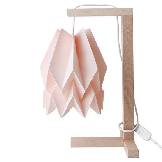 Lampe à poser rose pastel - Orikomi
