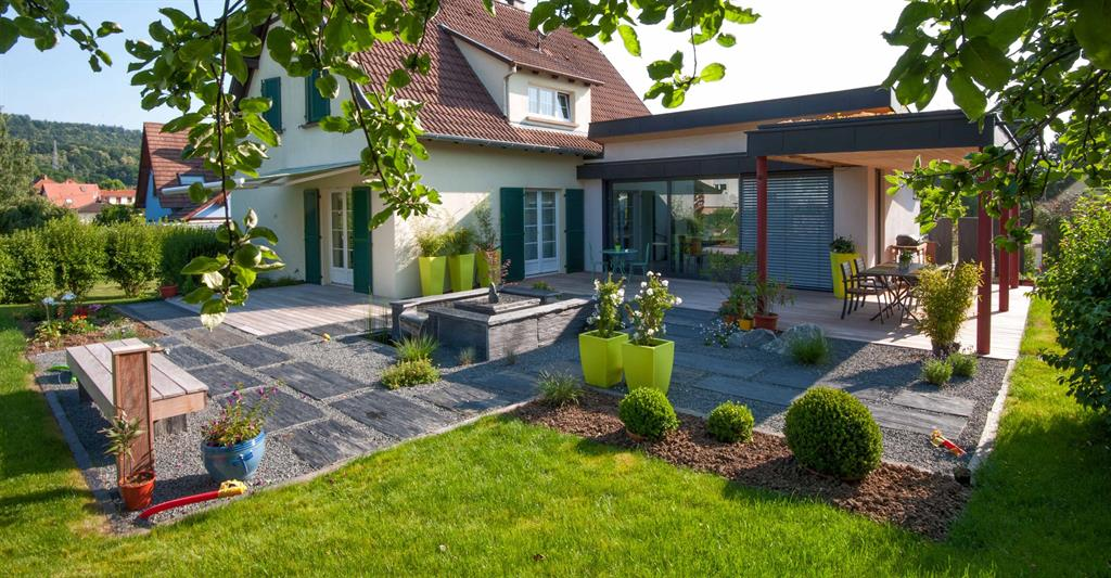 beautiful jardin maison contemporaine photos design ForJardin Maison Contemporaine