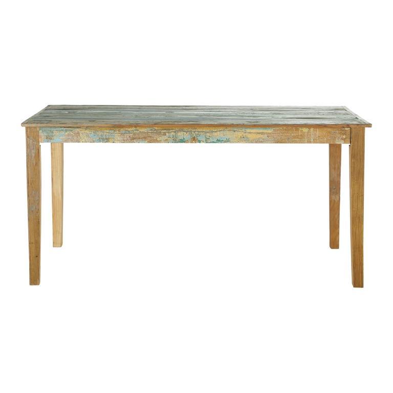 Table à manger en bois recyclés effet vieilli 6/8 personnes L160 Calanque