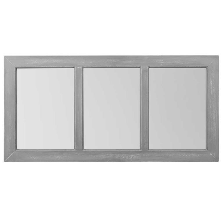 Miroir en bois gris H 70 cm QUIBERON