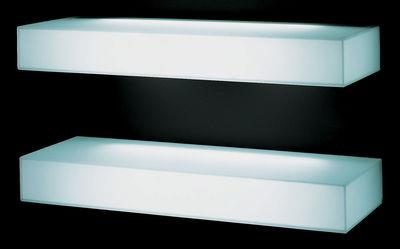 Etag re lumineuse light light glas italia blanc en verre for Etagere cuisine lumineuse