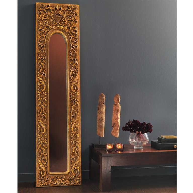 Miroir trumeau en résine doré H 178 cm HOA