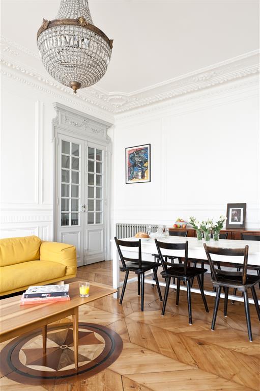 salon salle manger moderne fusiond photo n 78 domozoom. Black Bedroom Furniture Sets. Home Design Ideas