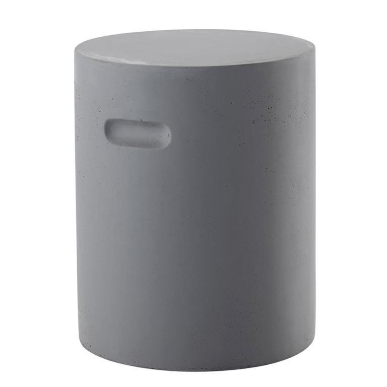 Tabouret en fibre de verre gris EVORA