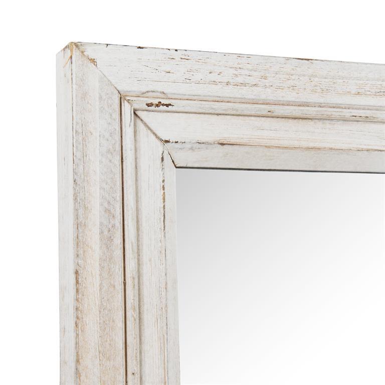 Miroir fenêtre en bois crème H 70 cm EDIMBOURG