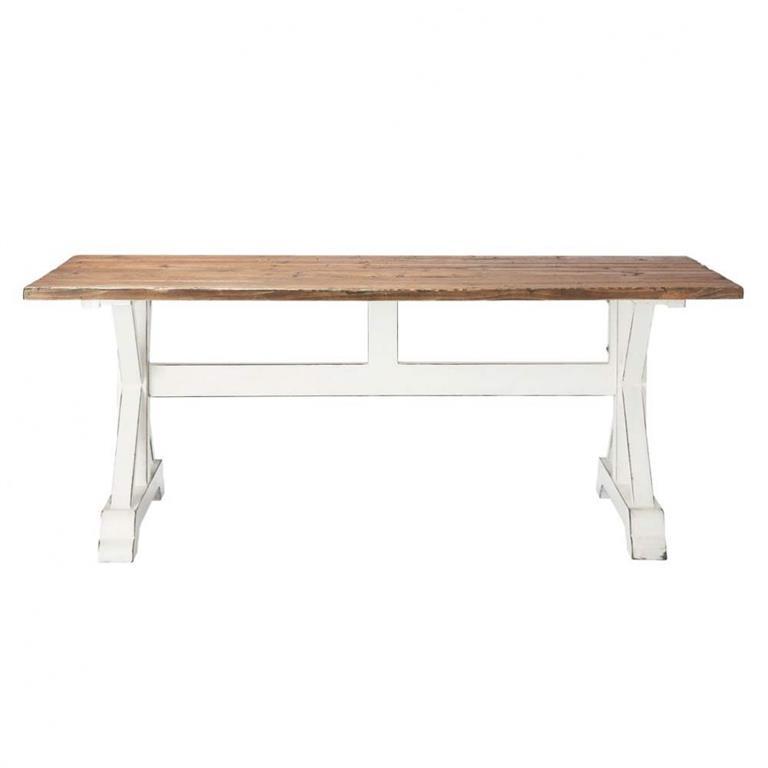 Table de salle à manger en lattes de bois recyclé L 200