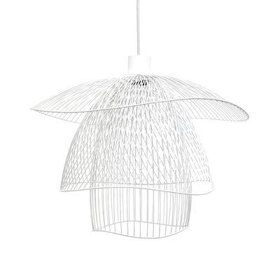 Suspension Papillon Small / Ø 56 cm - Forestier blanc en métal