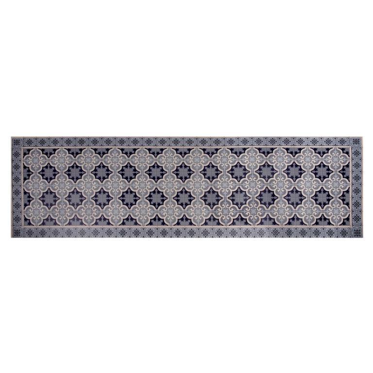 tapis en vinyle motifs carreaux de ciment 60x199 maisons du monde. Black Bedroom Furniture Sets. Home Design Ideas