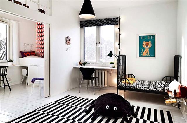 Des exemples de chambres tr s d co pour faire cohabiter - Partager une chambre en deux ...