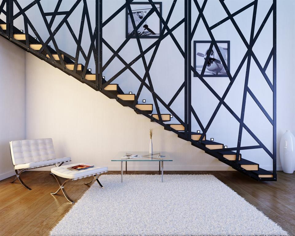 Réalisation d\'un escalier moderne en métal noir ARCHIBATI