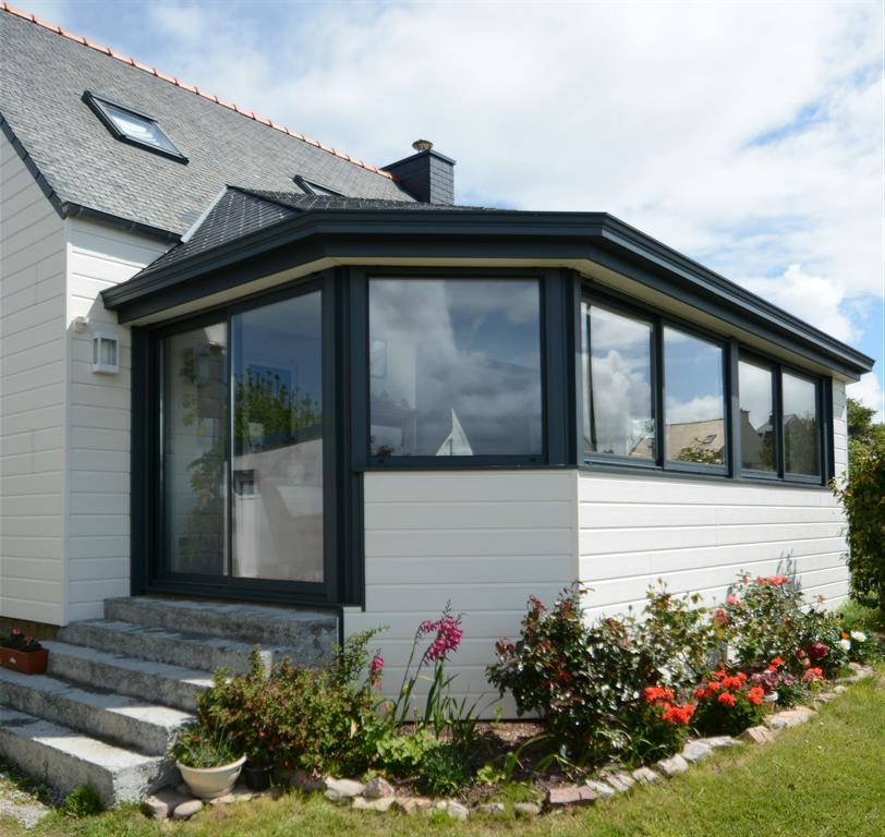 Veranda Terrasse Surelevee : Extension toiture ardoise domozoom com