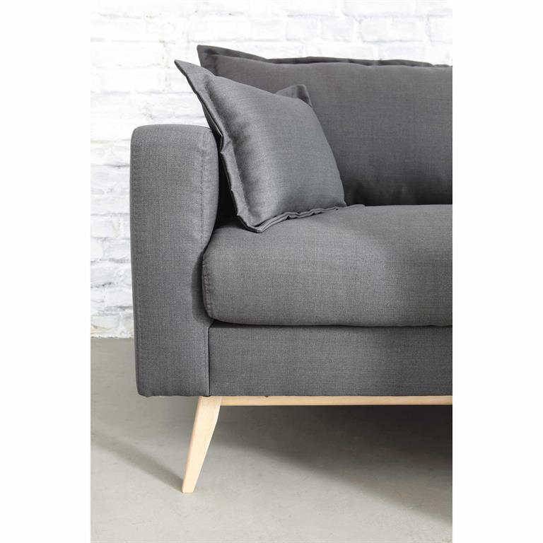 Canapé 3 places en tissu brun grisé Duke Maisons du monde