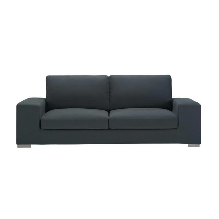Canapé 3/4 places en coton gris ardoise New York