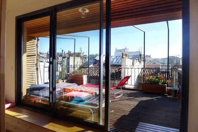 R novation appartement all e l on gambet - Veranda ouverte terrasse ...