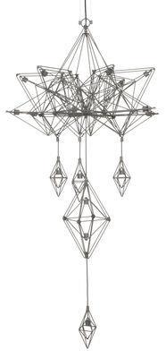 Suspension Himmeli / H 133 cm - Forestier gris en métal