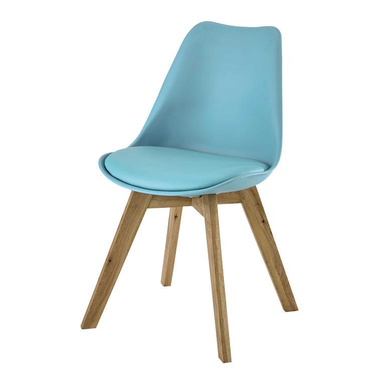 Chaise scandinave bleue Ice