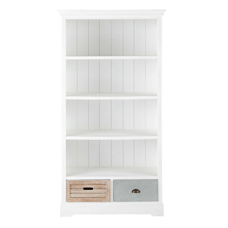 Bibliothèque Bois Blanc Maison Du Monde