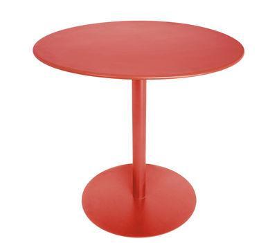 Table FormiTable XS / Métal - Ø 80 cm - Fatboy rouge