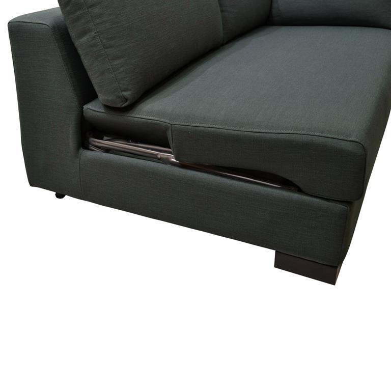 Canapé convertible modulable gauche en coton anthracite Terence
