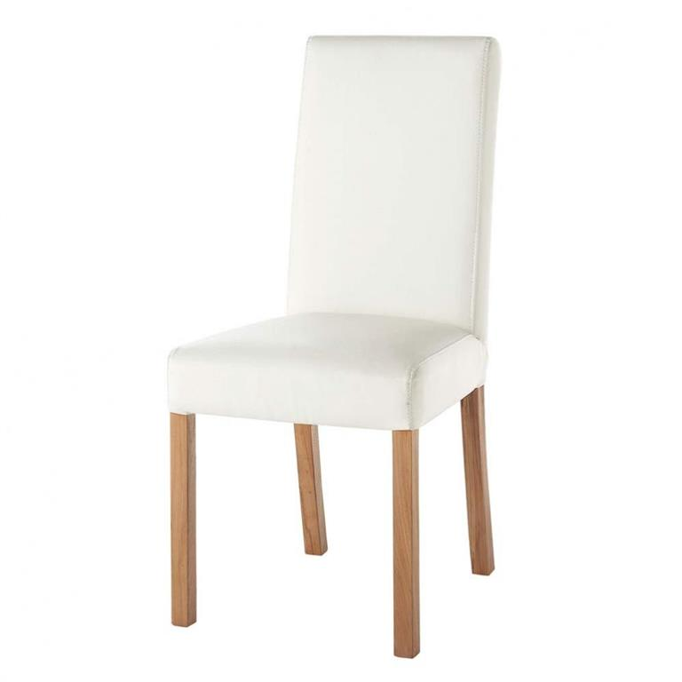 chaise blanche rotterdam maisons du monde ref 111602. Black Bedroom Furniture Sets. Home Design Ideas