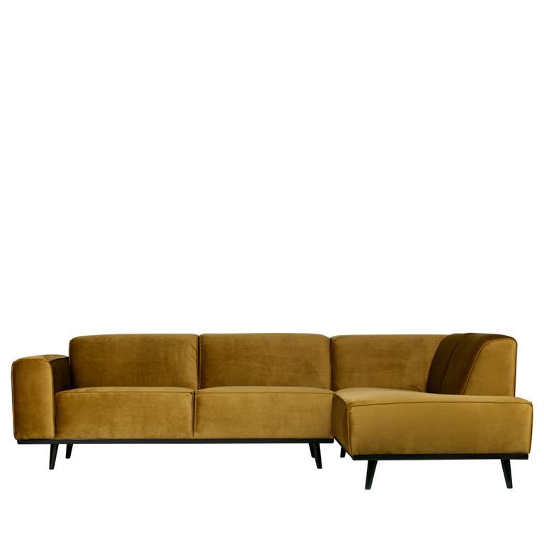 Canapé d'angle droit velours bronze