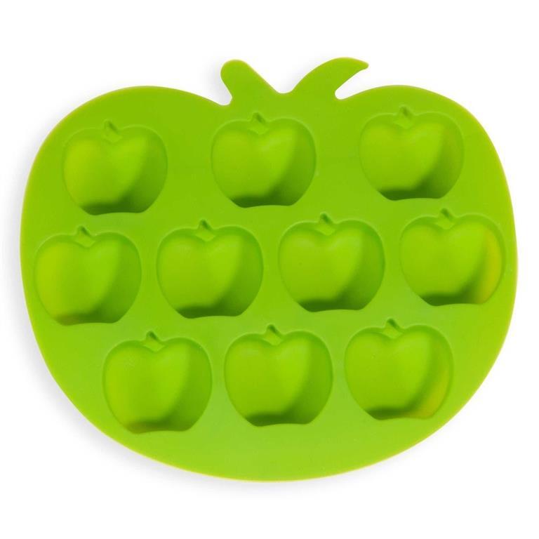 Moule à glaçons en silicone vert POMME