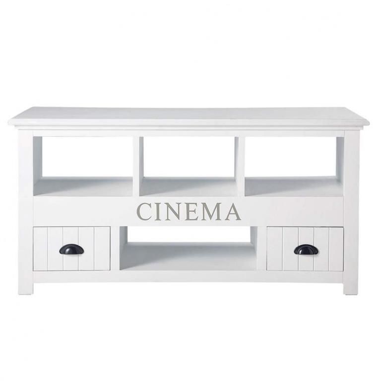 Meuble TV blanc Newport