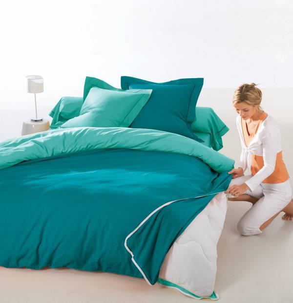 drap housse de couette express 2 personnes 240cm x 300cm. Black Bedroom Furniture Sets. Home Design Ideas